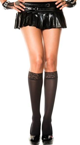 Lace Top Knee Highs