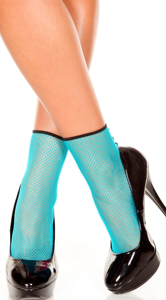 Fishnet Anklet with Back Seam, Fishnet Hosiery, Costume Hosiery, Dancer Wear