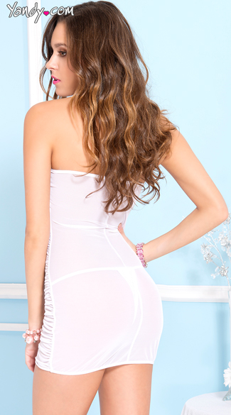 Blushing Bride Ruched Chemise