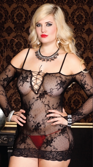 Plus Size Off the Shoulder Chemise