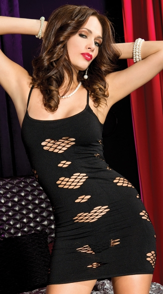 Opaque Heart Net Dress