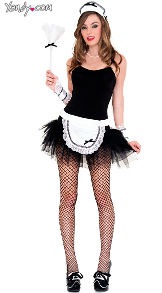 Sophisticated Maid Costume Kit, French Maid Accessories, French Maid Feather Duster