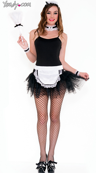 French Maid Kit, French Maid Accessories, French Maid Feather Duster
