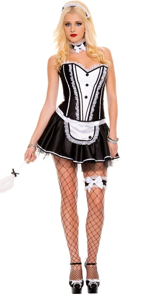 Frisky French Maid Costume, Sexy French Maid Costume, Hot French Maid Costume