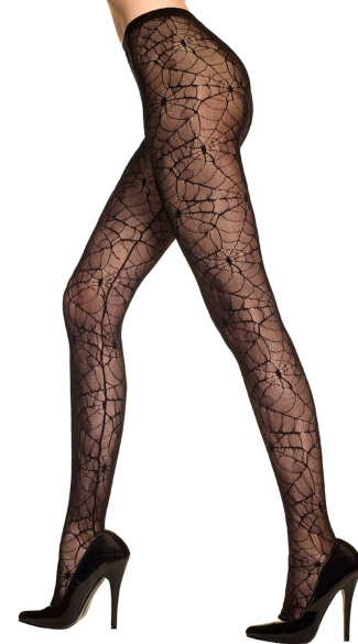 Sheer Spider Web Pantyhose