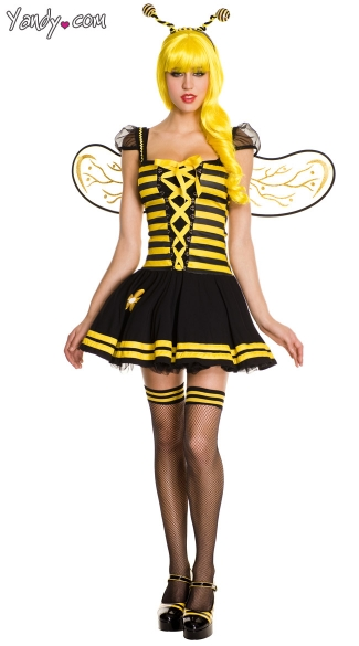 Charming Honey Bee Costume, Bee Halloween Costume, Sexy Bee Costume