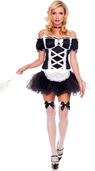 Frisky French Maid Costume, French Maid Halloween Costume, French Maid Outfits