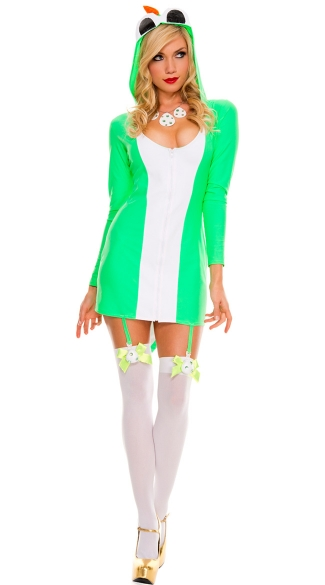 Green Dino Costume, Sexy Green Dino Costume, Video Game Dinosaur Costume