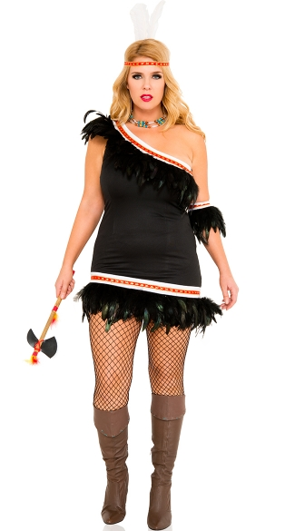 Plus Size Huron Honey Indian Costume