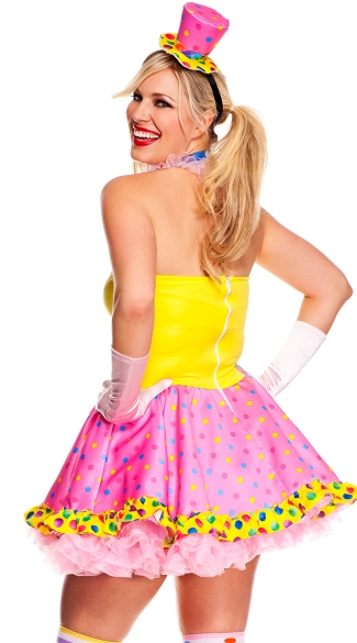Plus Size Circus Cutie Clown Costume