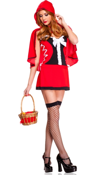Lace Up Red Riding Hood Costume