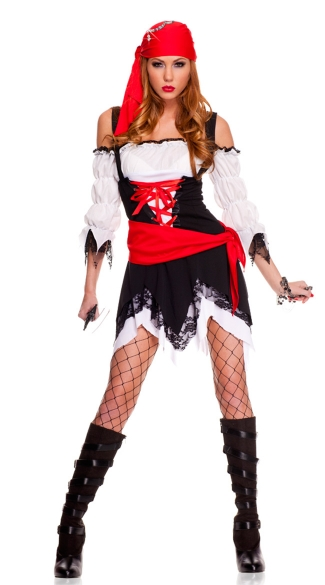 Pirate Vixen Girl Costume, Pirate Costume, Pirate Halloween Costume