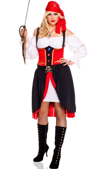 Plus Size Jewel of the Night Pirate Costume
