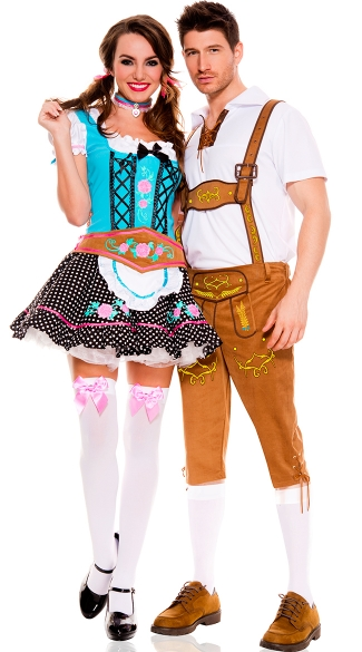 Mens Bavarian Lederhosen Costume, Mens Beer Costume, Mens Oktoberfest Costume, Miss Oktoberfest Beer Champion Costume, Sexy Beer Girl Halloween Costume, Adult Oktoberfest Halloween Costume