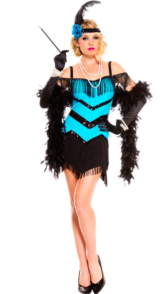 Sequin Seductive Flapper Costume
