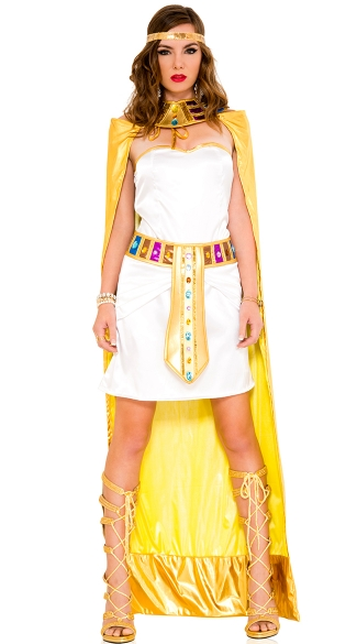 Golden Queen Cleopatra Costume, Golden Queen Costume, Egyptian Princess Costume