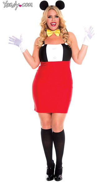 Plus Size Retro Mouse Costume