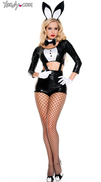Sinful Bunny costume, Black and White Bunny costume, Tux Bunny costume