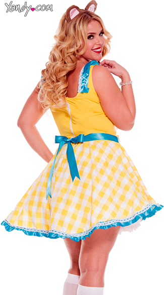 Plus Size Glistening Goldie Locks Costume