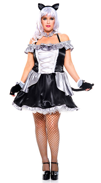 Plus Size Anime Cat Babe Costume sexy plus size anime babe cat costume plus size anime cat ...