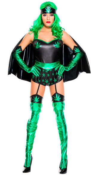 Leafy Super Woman Costume, sexy leafy super woman costume, green leaf super woman costume, sexy green leaf super hero costume, green leaf costume, sexy green leaf costume, green leaf hero costume, sexy green leaf hero costume