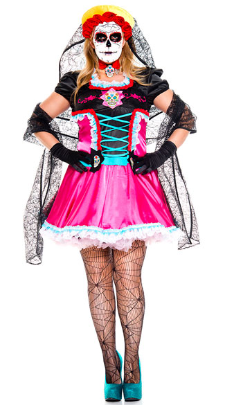 Plus Size Dead Catrina Costume, plus size sexy dead catrina costume, plus size day of the dead costume, plus size sexy day of the dead costume, plus size dia de los muertos costume, plus size sexy dia de los muertos costume