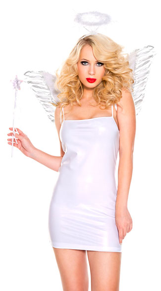 White Angel Costume Kit, angel costume kit, white angel accessory kit, angel accessory kit