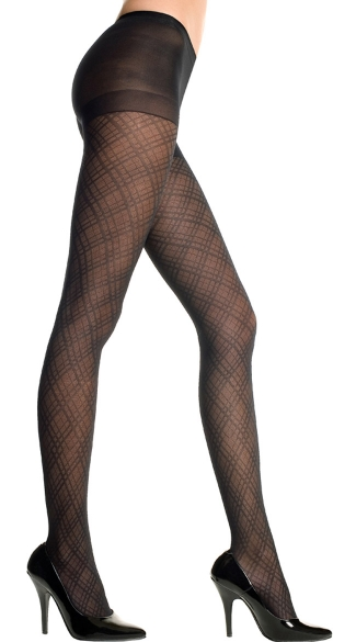 Spandex Diamond Criss Cross Pantyhose, Sheer Diamond Criss Cross Pantyhose, Diamond Pattern Pantyhose