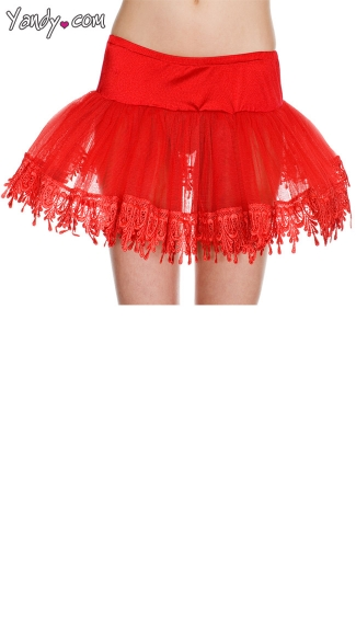 Tear Drop Lace Trimmed Petticoat