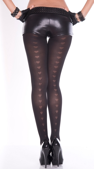 Heart Backseam Pantyhose