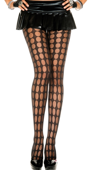 Sheer Pantyhose With Pothole Pattern, Sheer Pothole Pattern Pantyhose, Sheer Pothole Pantyhose