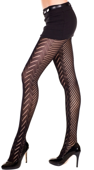 Sheer Pantyhose With Diamond Print
