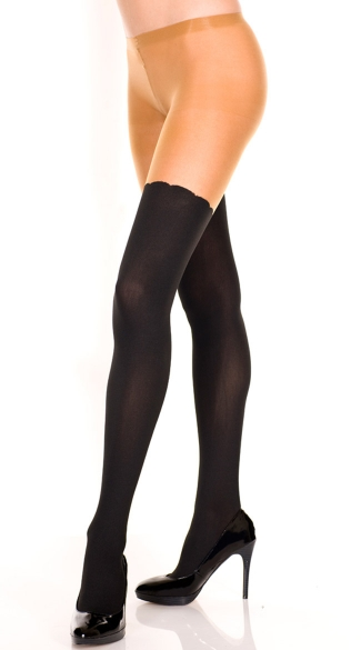 Sheer Two Tone Pantyhose