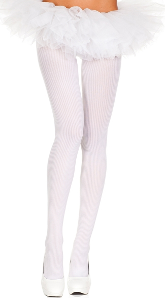 Classic Spandex Ribbed Tights