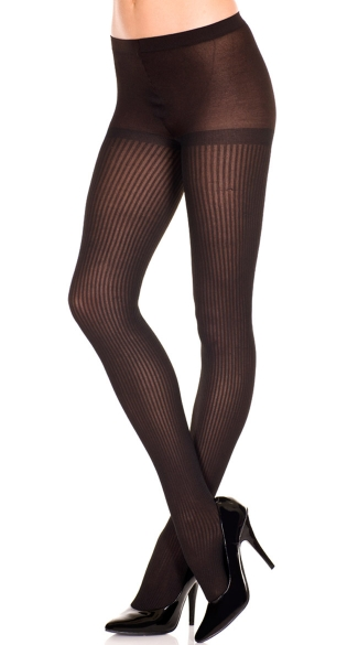 Polyester Ribbed Tights, Classic Polyester Tights, Polyester Vertical Striped Tights