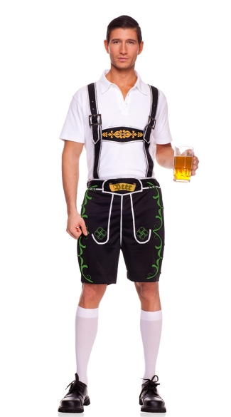 Mens Lederhosen Costume, German Outfit, Lederhosen Halloween Costume