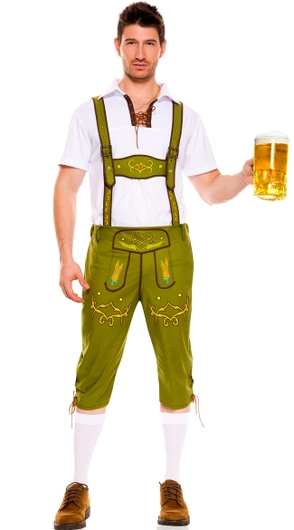 Mr. Oktoberfest Costume, Mens Beerfest Costume, Mens Lederhosen Costume