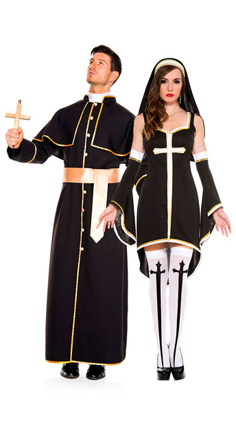 Men\'s Deluxe Priest Costume, men\'s priest costume - Yandy.com, Sinfully Hot Nun Costume, sexy nun costume - Yandy.com