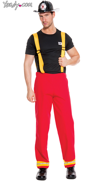 mens firefighter hero costume mens firefighter costume firefighter halloween costume - Fireman Halloween