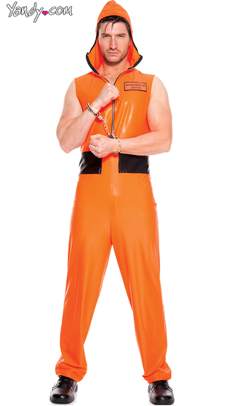 Men\'s Escaped Convict Costume