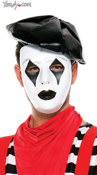 French Mime Mask, Mime Mask, Full Face Masks