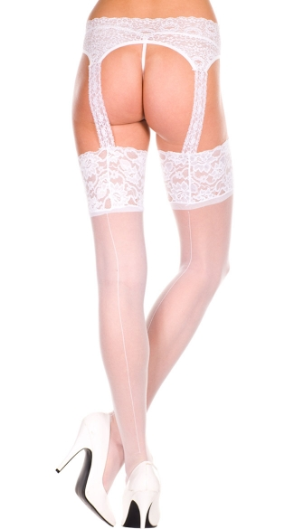 Backseam Sheer Stocking With Garterbelt