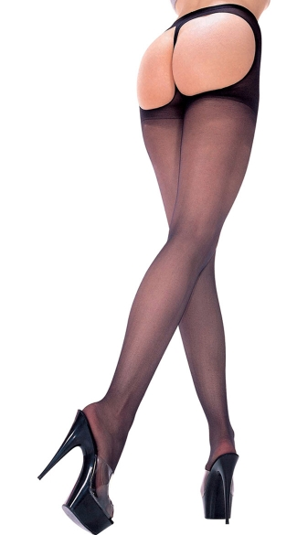 Sheer Thong Back Pantyhose, Sheer Pantyhose, Back Cut Out Pantyhose