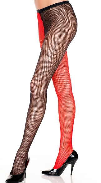 Two Tone Fishnet Pantyhose