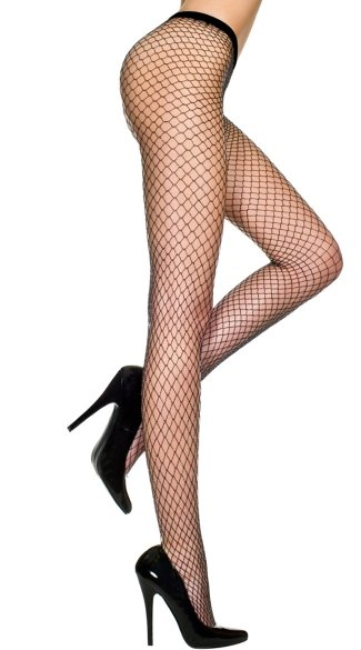 Glittery Diamond Net Pantyhose