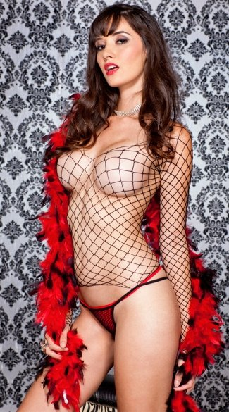 Fence Net Shirt and Thong, Fishnet Clothing