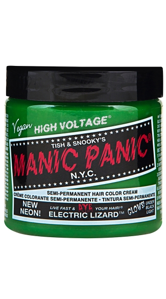 Electric Lizard Classic Creme, Temporary Hair Color, Halloween Hair Color