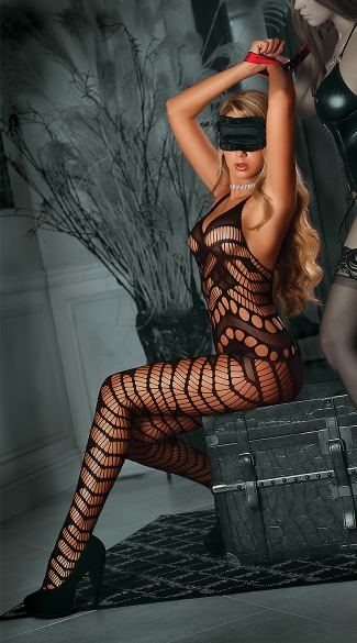 Seductive Cutout Bodystocking Set