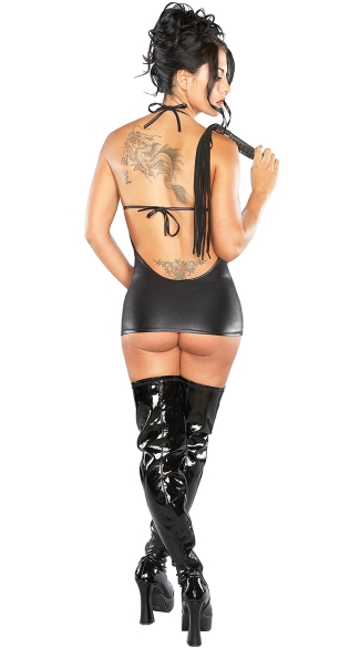 Plus Size Xena Faux Leather Cupless Chemise