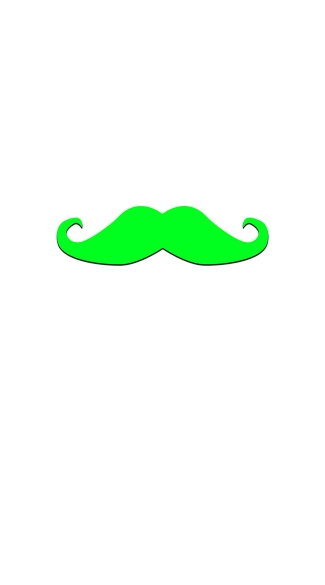 Glow in the Dark Dandy Mustachio